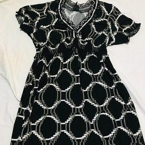 plus sz14  black white dress